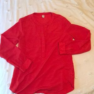 Barely worn red blouse